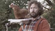 这才是真正的摄像鸡,老外把摄像机装在鸡头拍出大片